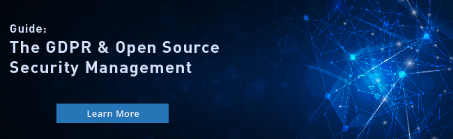 The GDPR & Open Source Security Management