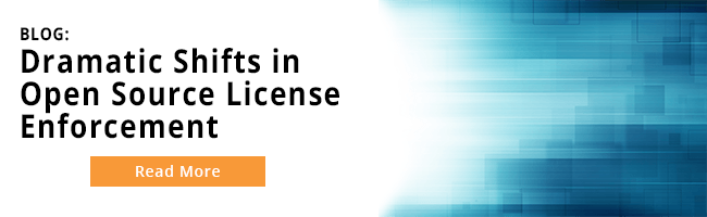 Read about the dramatic shifts in open source license enforcement