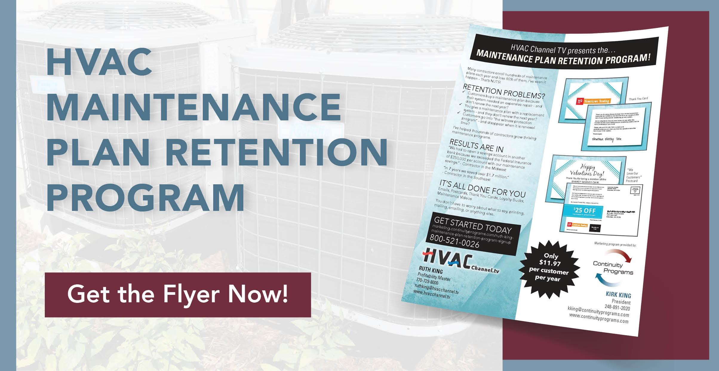 HVAC Maintenance Plan Retention Program (Ruth King)