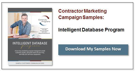 Contractor Marketing Intelligent Database Program Samples