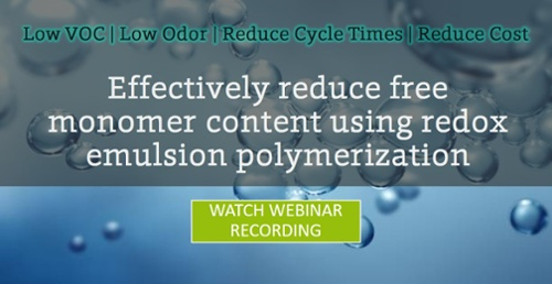 Redox Optimization for Emulsion Polymer Post Reaction