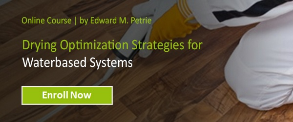 Drying Optimization Strategies for Waterbased Systems