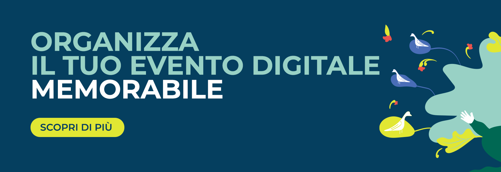 Organizza il tuo evento digitale o ibrido