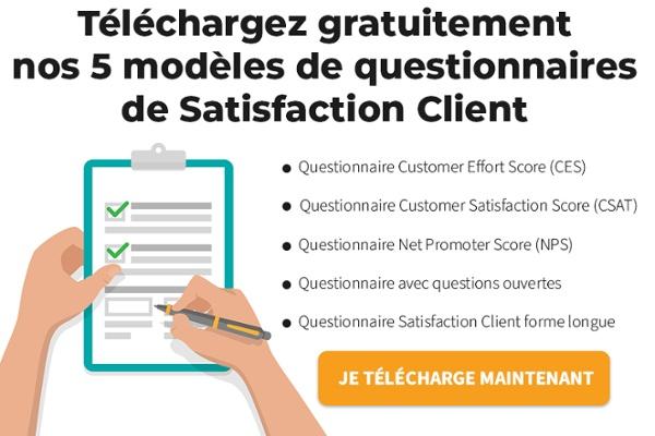 télécharger modèles questionnaires satisfaction client