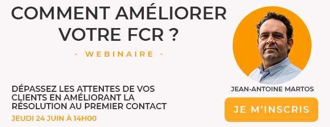 webinar relation client ameliorer le FCR logos