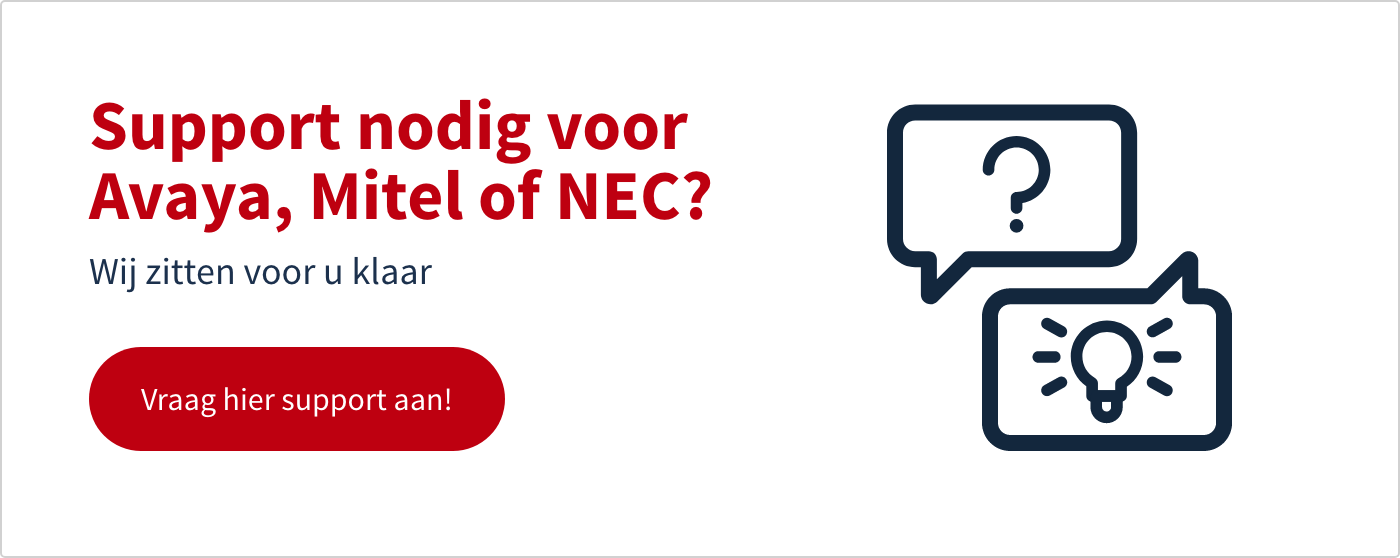 Support voor Avaya, Mitel of NEC
