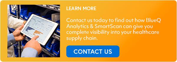 BlueQ Analytics & SmartScan, contact us button