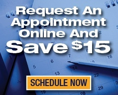 request an HVAC appointment online and save $15