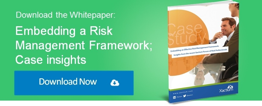 Embedding a Risk Management Framework