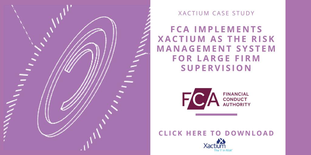 FCA Implements Xactium Risk Management System