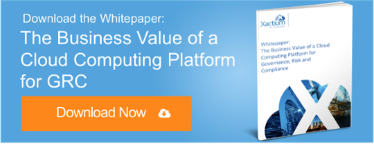 The Business Value of a Cloud Computing Platform for Governance, Risk and Compliance