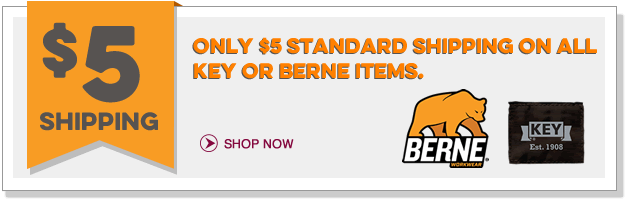 $5 Shipping on all Key or Berne items!