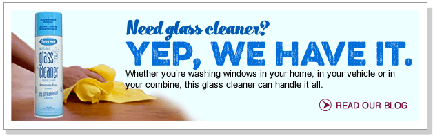 Need glass cleaner? Yep, we have it.