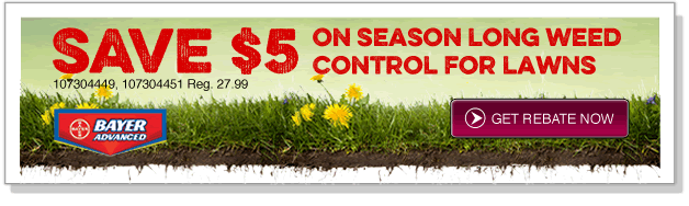 Save $5 on Season Long Weed Control for Lawns!