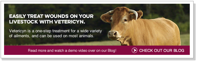Easily treat wounds on your livestock with Vetericyn.
