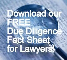 Download our FREE Due Diligence Fact Sheet for Lawyers