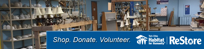 Shop Donate Volunteer at the ReStore