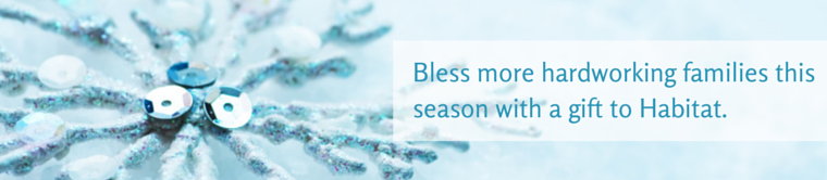 Bless more hardworking families by making a gift to Habitat!