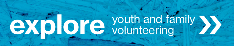 click to learn more about youth and family volunteer opportunities