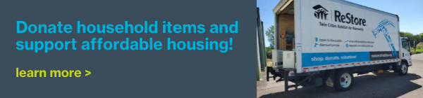 Donate household items and support affordable housing! Learn more