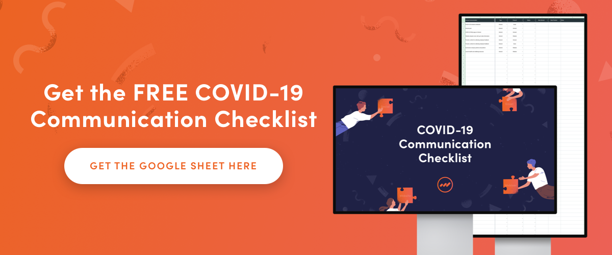 COVID-19 Communication Checklist