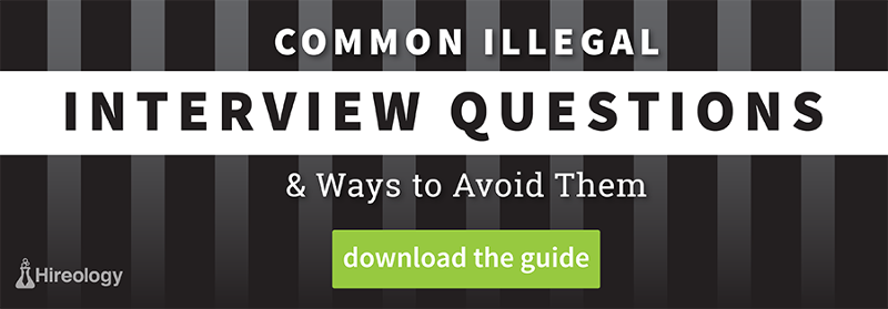 Illegal interview questions free guide download