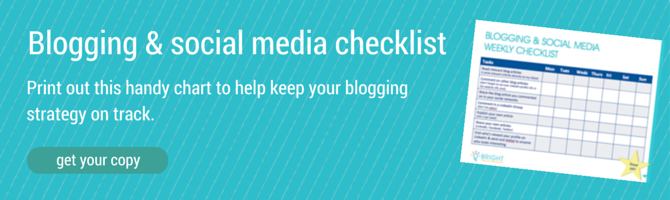 business blogging and social media checklist