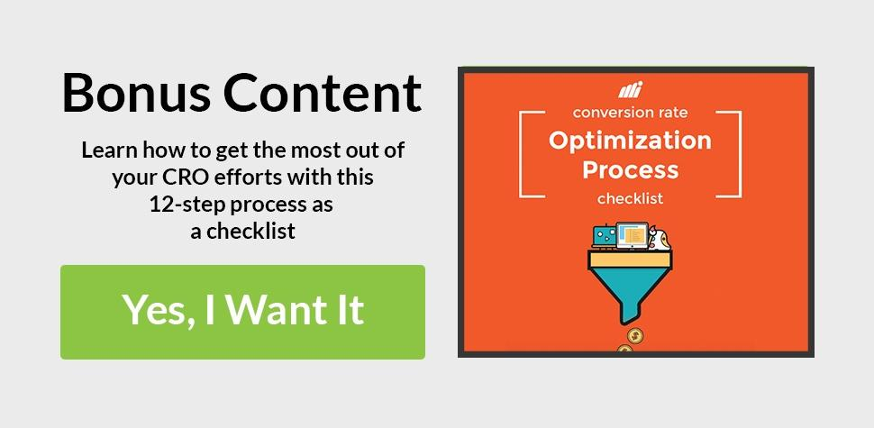 Bonus Content: Free PDF Conversion Rate Optimization Checklist