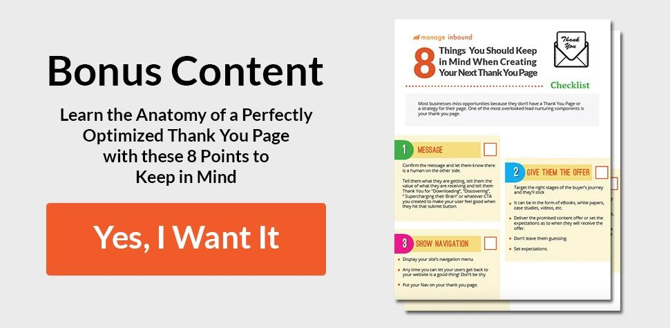 Bonus Content: Free PDF Anatomy of a Perfectly Optimized Thank You Page