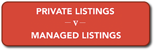 Private vs Managed Listings