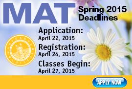 MAT Spring 2015 Deadlines