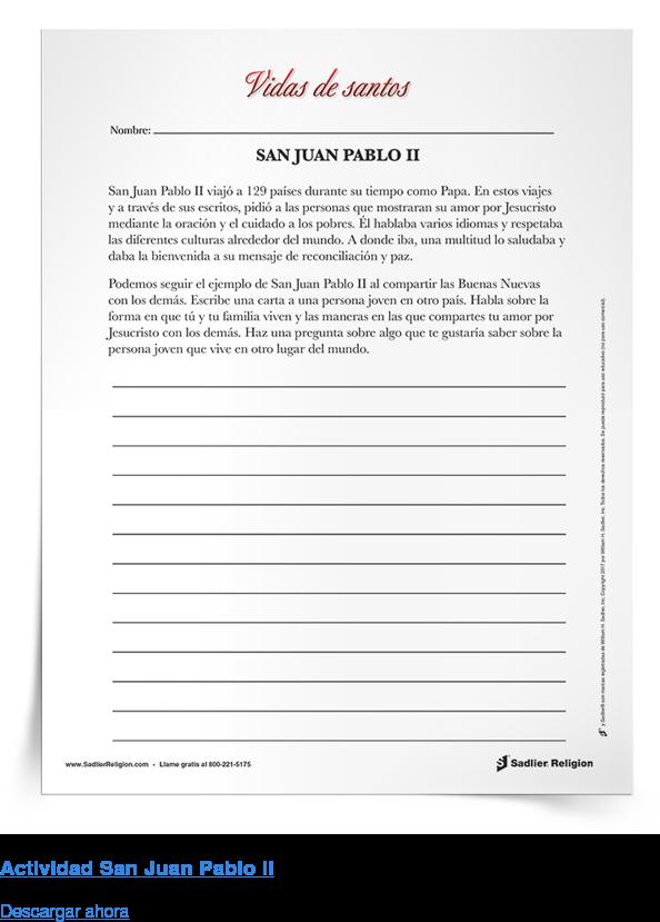 Actividad San Juan Pablo II Descargar ahora