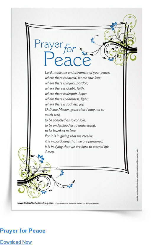 Prayer for Peace Download Now