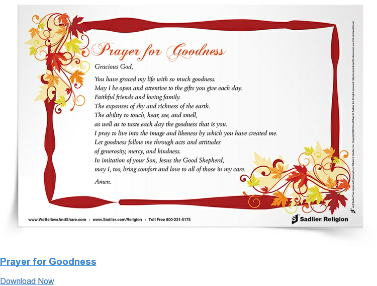 Prayer for Goodness Download Now