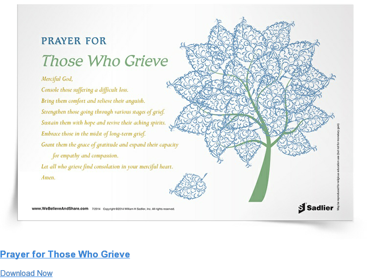 Prayer for Those Who Grieve Download Now