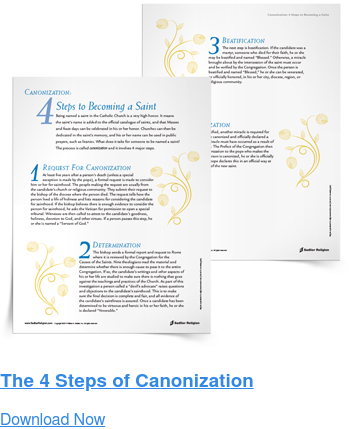 The 4 Steps of Canonization Download Now