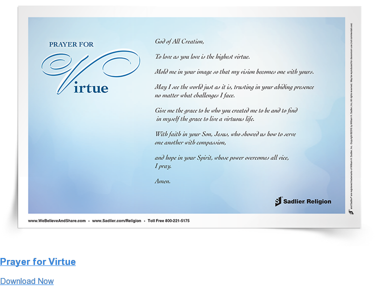 Prayer for Virtue Download Now