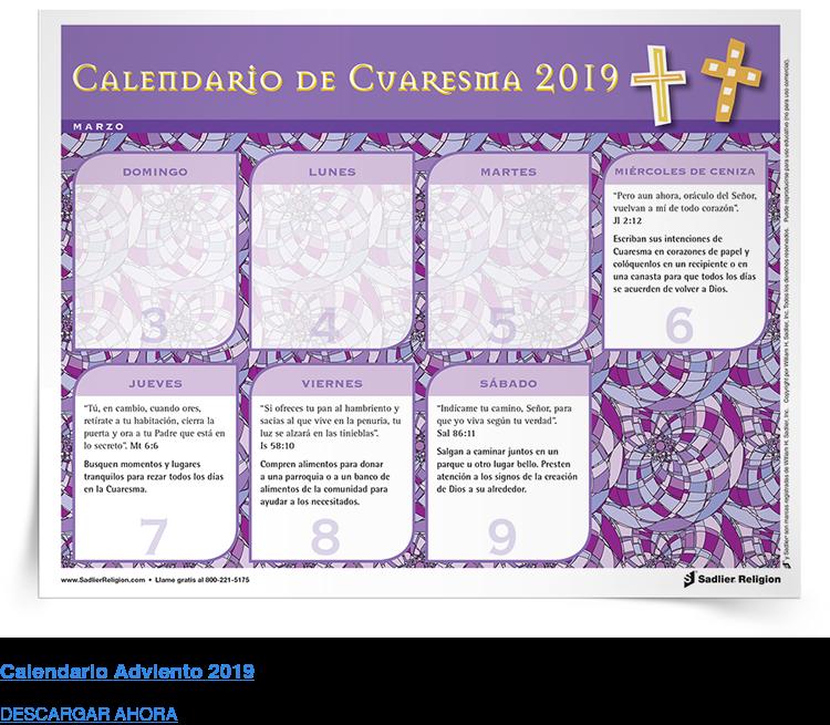 Calendario Adviento 2019 DESCARGAR AHORA