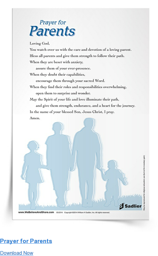 Prayer for Parents Download Now