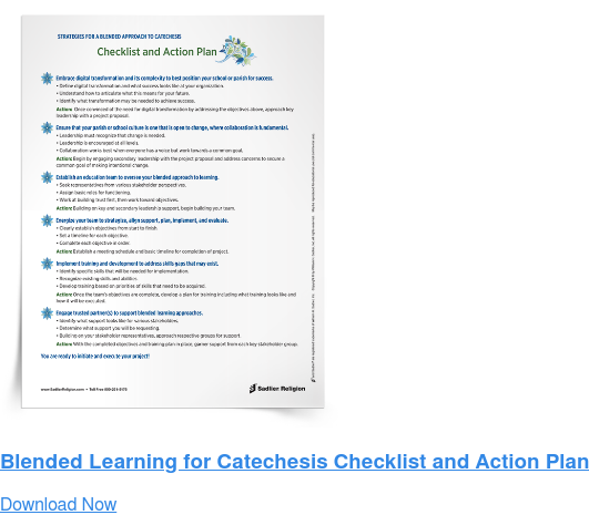 Blended Learning for Catechesis Checklist and Action Plan Download Now