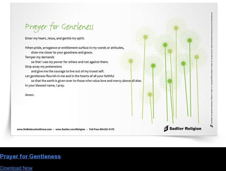 Prayer for Gentleness Download Now