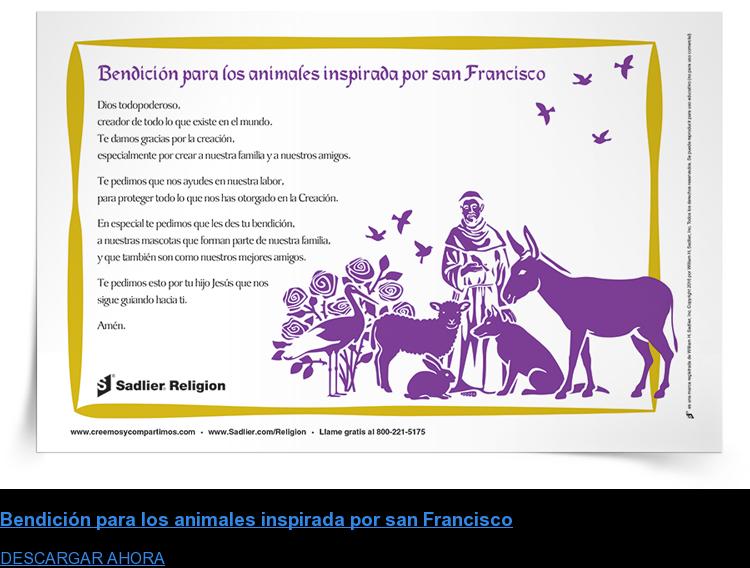 Bendición para los animales inspirada por san Francisco DESCARGAR AHORA