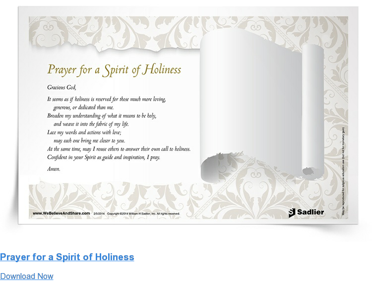 Prayer for a Spirit of Holiness Download Now