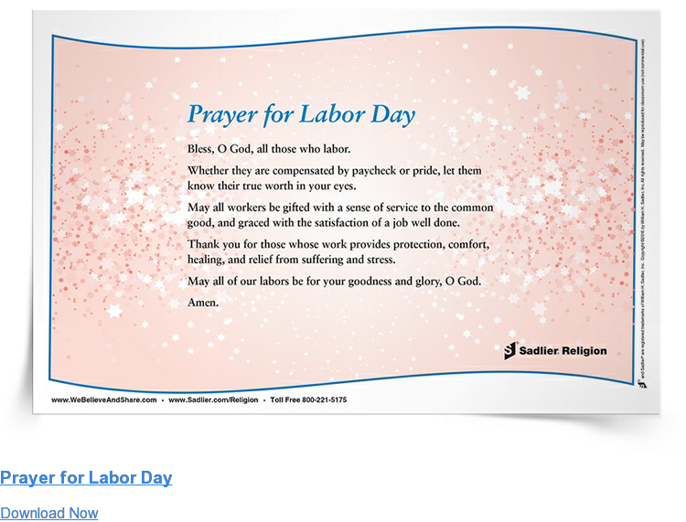 Prayer for Labor Day Download Now