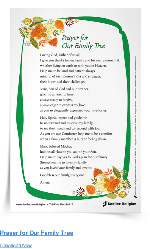 Prayer for Our Family Tree Download Now