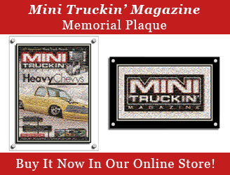 Mini Truckin' Memorial Plaque