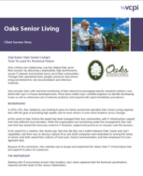 Read our IT Managed Services Success Story at Oaks Senior Living
