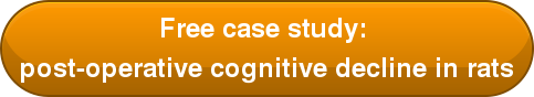 Free case study:  post-operative cognitive decline in rats
