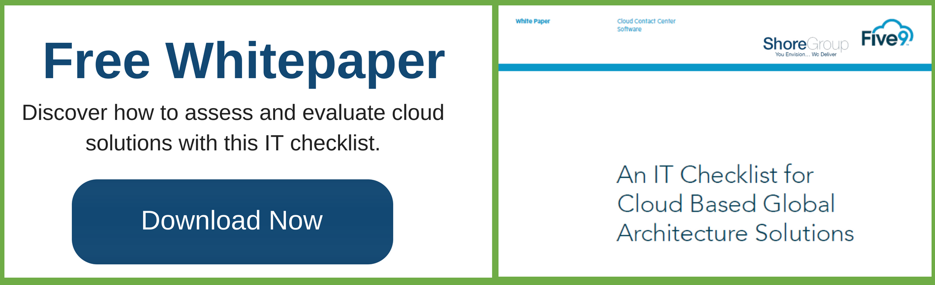 An  IT Checklist for Cloud Based Global Architecture Solutions