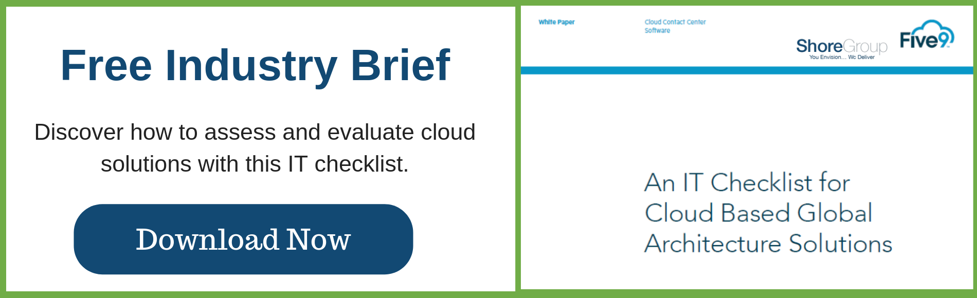 IT checklist for cloud based achitecture